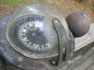Antique E S Ritchie Compass Binnacle YB-600 Ship Maritime Navigation **21 Lbs** 5