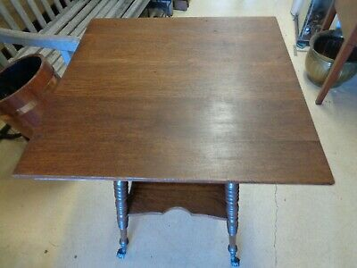 Antique Oak Table - Turned Legs - Claw & Glass Ball Feet 3