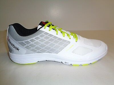 NEW REEBOK QUANTUM LEAP MENS COMFORT RUNNING SHOES BLACK /& WHITE Size 12