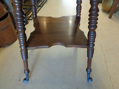 Antique Oak Table - Turned Legs - Claw & Glass Ball Feet 6