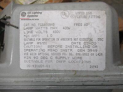 GE 400 WATT HPS 480 Volt Ballast embly- NEW Ge Schematic Diagrams Watt Uniglow on