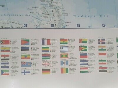 Giant Map Of The World Poster Wall Brand New With Country Flags Great Gift New 5