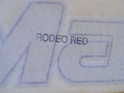 "MASTERCRAFT BOAT DECAL VINYL STICKER /""MASTERCRAFT/""   RODEO RED  27/"" X 3 1//4/"""