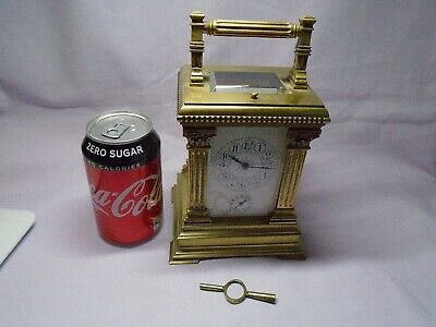 Very Large French Repeater / Alarm Carriage Clock In Excellent Condition + Key 2