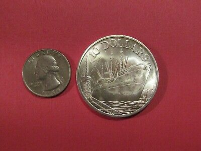 Singapore 1975 10 Dollars Silver unc Coin 3