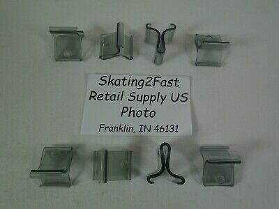 Hinged Ceiling Grid Clip Clear Track Plastic Snap Hook Clip Retail Store Supply 5