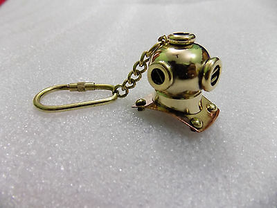 LOT OF 10 KEY RING SCUBA DIVING MINI DIVERS HELMET SOLID BRASS KEY CHAIN GIFT,,,