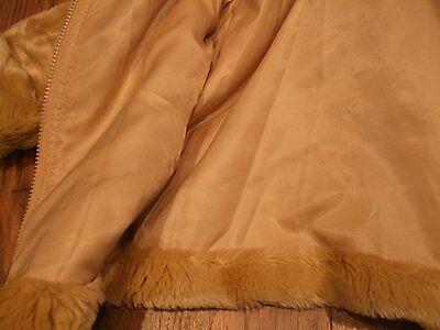 Z. Kids age 4 girls faux fur beige light brown jacket GAP size xs Smart CASUAL 3