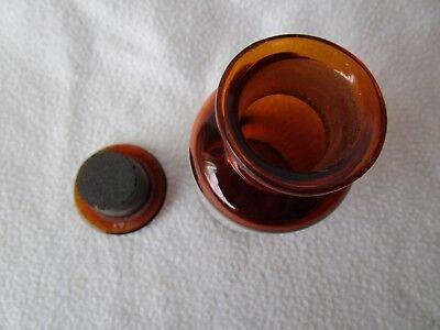 alte Apothekerflasche Braunglas mit Schliff-Stopfen Rad. Valerian. Plv. RAR! 4
