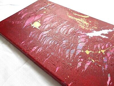 Red Abstract Painting Original Canvas Art Textured Artwork OOAK Wall Home Decor 2