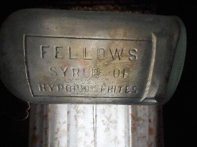 Antique FELLOWS Syrup Of HYPOPHOSPHITES Quack Medicine Remedy Bottle 1890'S 12