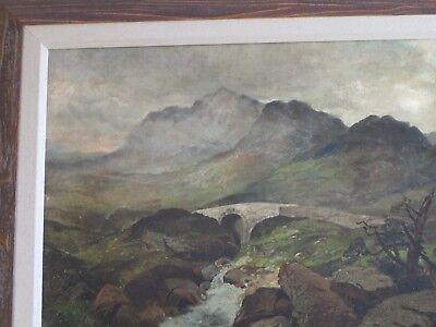 Mystery Artist Antique 19Th Century Painting Landscape River Stream Masterful 8