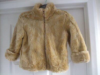Z. Kids age 4 girls faux fur beige light brown jacket GAP size xs Smart CASUAL 5