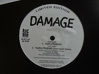 "DAMAGE ~ Girlfriend ~ 12"" Single PS LTD ED"