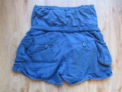 Colline Maternity Teal Over Bump Cargo Safari Shorts Size 6 2