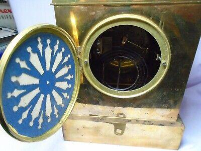 ANTIQUE BRASS FRENCH A.D.MOUGIN STRIKING MANTEL CLOCK + KEY c1860 IN GWO 9