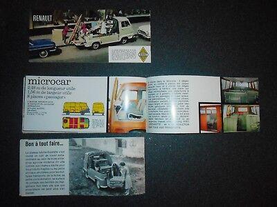 3 catalogues   ESTAFETTE RENAULT originaux pas copie bon état 12