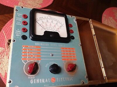 Vintage Metal Case General Electric Unimeter Type UM-3 with Probes. 8