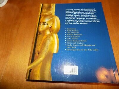 EGYPT THE WORLD OF THE PHARAOHS Ancient Egyptian Art Arts Artifacts History Book 2