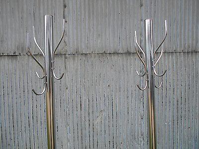 AntiqueVintage 20s30s Coat Racks Cast Iron Base Chrome Reconditioned STeAm PuNk! 5