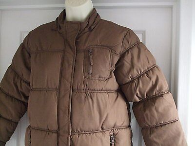 Z. Kids AGED 9 - 10 GIRLS PADDED LONG BROWN WINTER COAT CASUAL 4