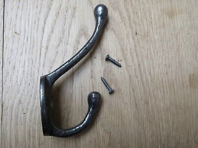 PACK OF 10 TEXTURED CAST IRON coat hooks rustic vintage old antique style