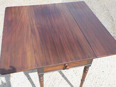 antique,victorian,mahogany,pembroke,table,drop side,extending,drawer,tall legs 8