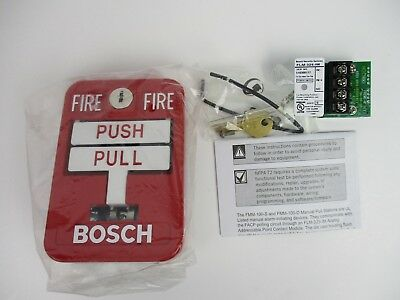 NEW BOSCH FMM-325A-D ADDRESSABLE MANUAL PULL STATION DOUBLE ACTION