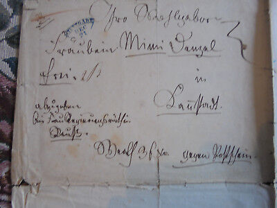 Dokumente r 20 / Brief Noten Vorphila Stuttgart Cannstadt Reuß Komposition 1850