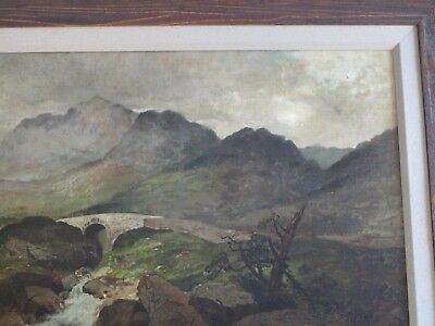 Mystery Artist Antique 19Th Century Painting Landscape River Stream Masterful 5