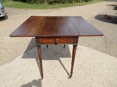 mahogany,pembroke,table,drop side,extending,drawer,tall legs,antique,victorian 11