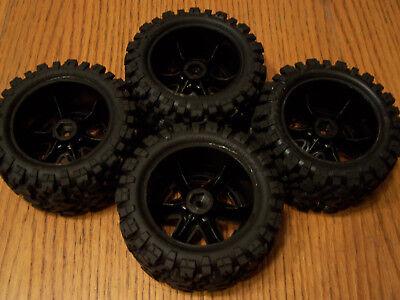 Traxxas RUSTLER 4X4 VXL Talon Extreme Tires /&RXT Black Chrome Wheels 2.8 67076-4