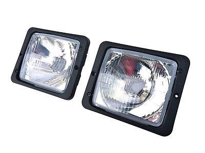 2x Fernscheinwerfer Abblendlicht H4 Traktor Fendt IHC Zetor mit 2x Lampenfassung