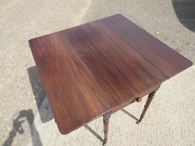 mahogany,pembroke,table,drop side,extending,drawer,tall legs,antique,victorian 9