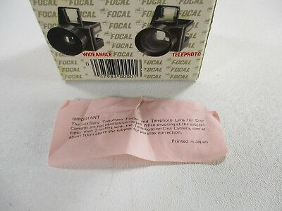 Kodak auxiliary lens set-telephoto and wide angle for Kodak disc cameras 3
