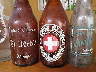 Sammeln von Glasflaschen Alt / Collection Of Antique Glass Bottles 5