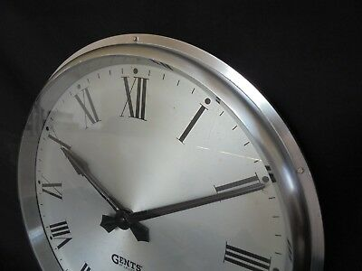"Gents Of Leicester Industrial Cast Aluminium Wall Clock 13"" 3"
