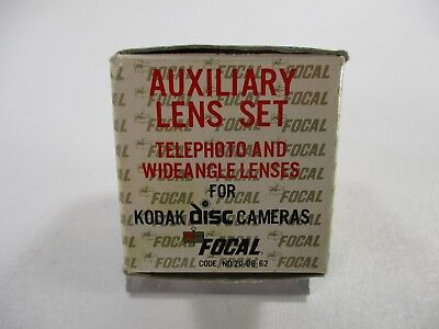 Kodak auxiliary lens set-telephoto and wide angle for Kodak disc cameras 4