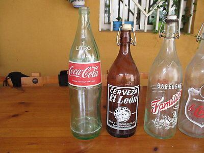 Sammeln von Glasflaschen Alt / Collection Of Antique Glass Bottles 4
