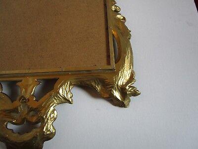 "Florentine Hollywood Regency Shell Gold tone Wall Mirror Ornate Italy 23¼"" W 11"