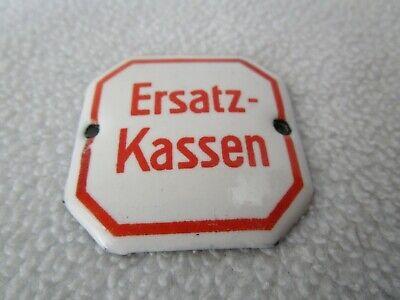 Ersatz-Kassen altes Schild 4x4cm Emailschild Email Schubladenschild Apotheke 2