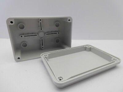 GEWISS GW44205 120x80x50mm ENCLOSURE JUNCTION BOX PLASTIC WATERPROOF IP56 GREY 4