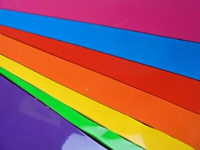 Self adhesive vinyl sticky back 7 sheets A4 RAINBOW COLOURS BUY 2 GET 3RD FREE 3