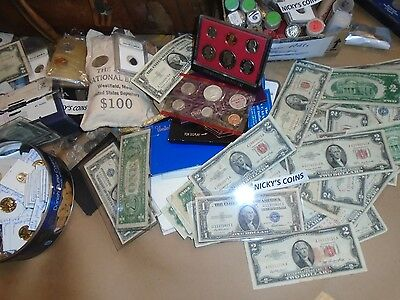 Old Estate Us Coin Lot Sale Gold Silver Currency Sale Hoard Collection Treasure 5