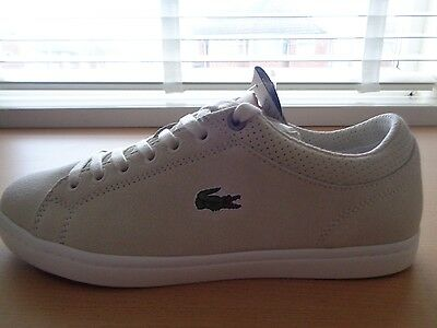 4e78cfc524 ... Lacoste Sport Straightset LUX SPM mens leather shoes sneakers trainers  NEW+BOX 2