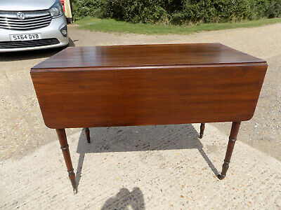 mahogany,pembroke,table,drop side,extending,drawer,tall legs,antique,victorian 6