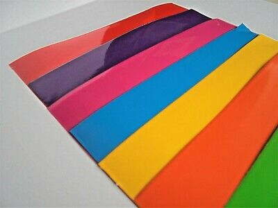 Self adhesive vinyl sticky back 7 sheets A4 RAINBOW COLOURS BUY 2 GET 3RD FREE 4