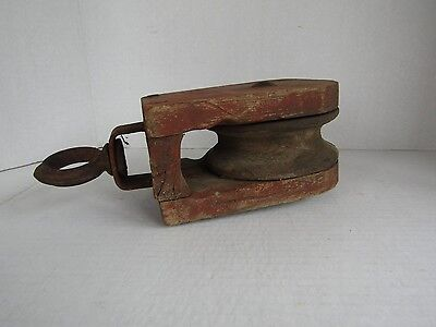 Wood Pulley, Vintage Hay Trolley, Wooden Pulley Wheel, Barn Pulley, Block Pulley 4