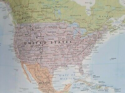 Giant Map Of The World Poster Wall Brand New With Country Flags Great Gift New 6