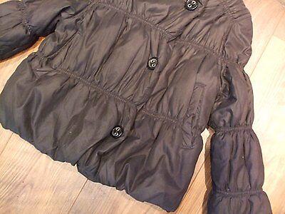 Kids marks & spencer black padded winter girls jacket aged 7 - 8 years Smart 3